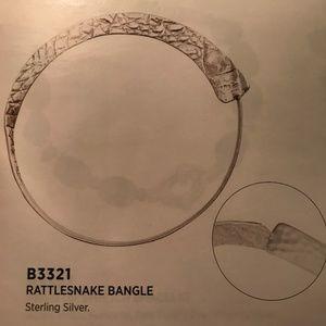 Silpada Rattlesnake Bangle .925 Sterling Silver
